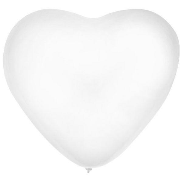 Ballon Heart x 36 White 32 cm