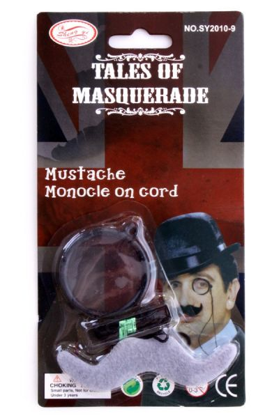 Detective Sherlock Holmes Monocle with mustache