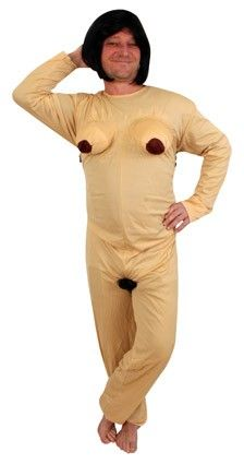 Bachelorette party outfit Nude-suit woman