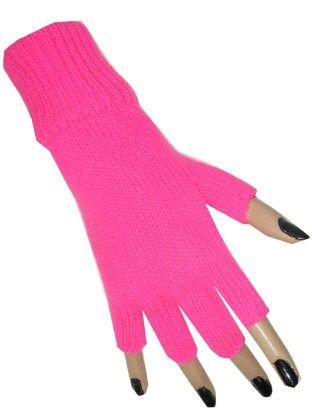 Fingerless glove pink