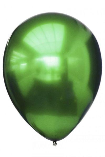 Green titanium chrome balloons
