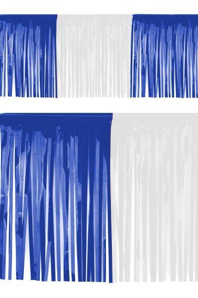 PVC strings foil garland blue white