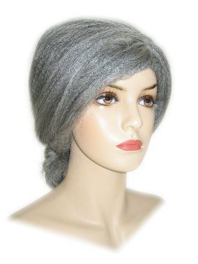 Grandma wig gray luxury