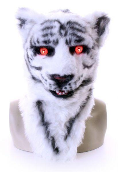 Full mask white tiger