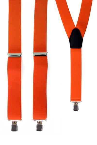 Suspenders color orange