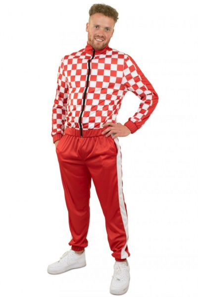 Tracksuit red and white checkered