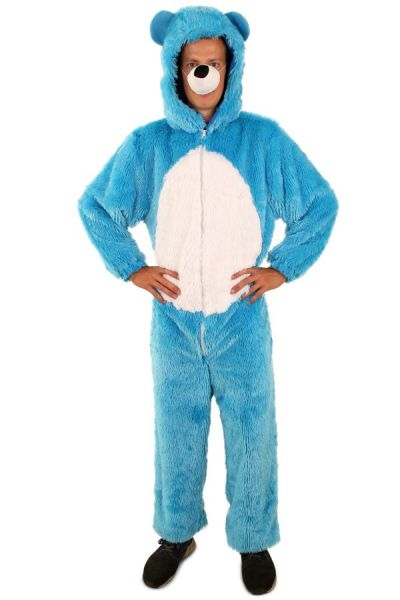 Light blue bear costume with white belly