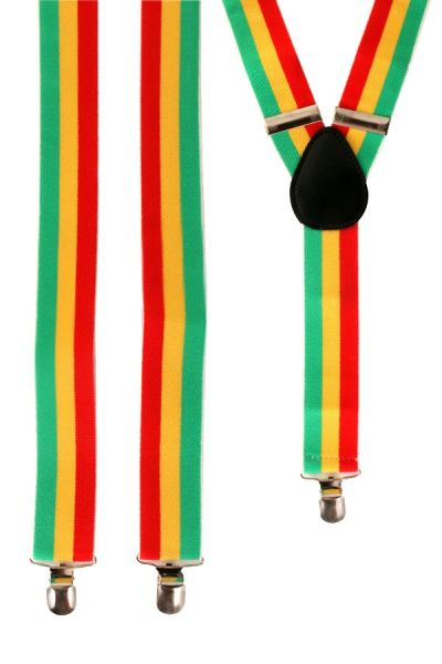 suspenders red - yellow - green