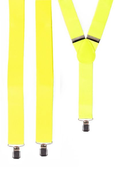 Suspenders neon yellow fluorine