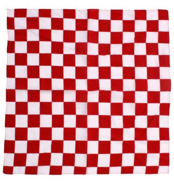 bandana handkerchief red white checkered