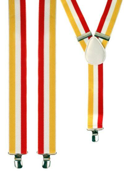 Suspenders red - white - yellow