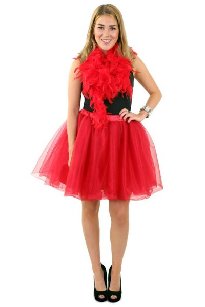 Tulle skirt red ladies one size