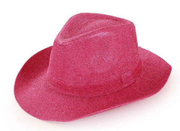 Cowboy hat glitter pink