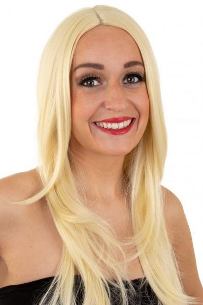 Ladies wig blond washable