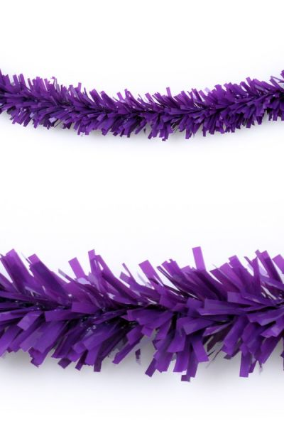 Plastic garland purple 10 meters fireproof