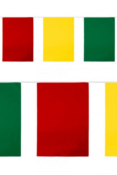 PVC flag line rectangle red-yellow-green