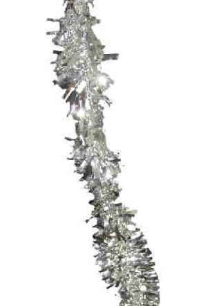 Plastic garland silver 4 meters fireproof