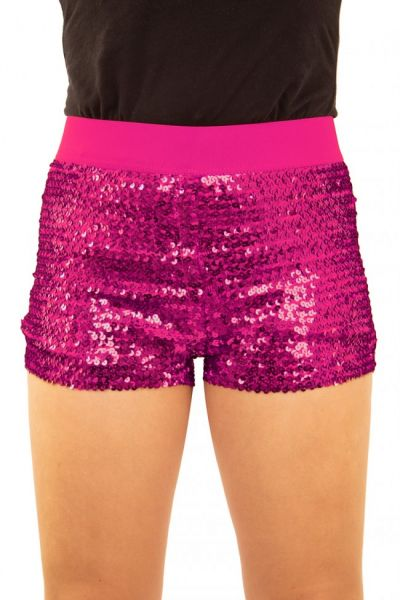 Hotpants with sequins pink