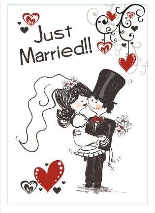 Window sticker just married
