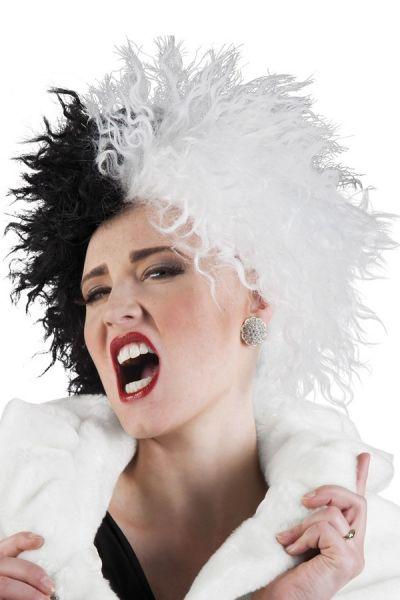 Rockstar wig half black white