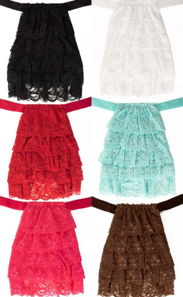 Fine lace jabot in various colors