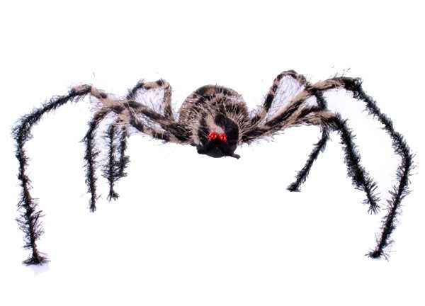 Halloween large brown spider with bendable legs