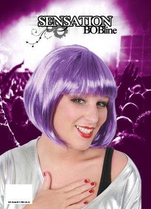 Ladies wig purple Bobline