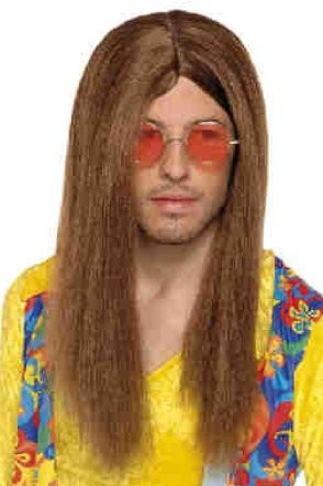 Boland Wig Hippie Long Brown Fancy Dress Costume