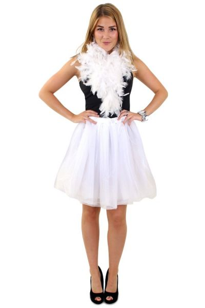 Tulle rock & roll skirt white