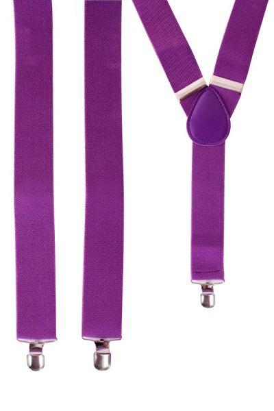 Suspenders color purple