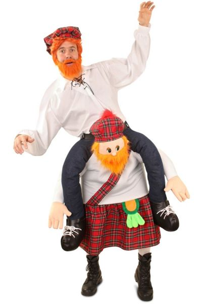 Funny Piggyback worn by Scottish man costume