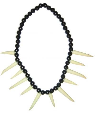 Indian chain black with white teeth