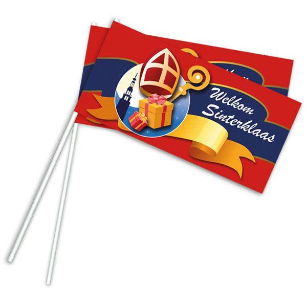 Waving flag Sinterklaas 50 piece