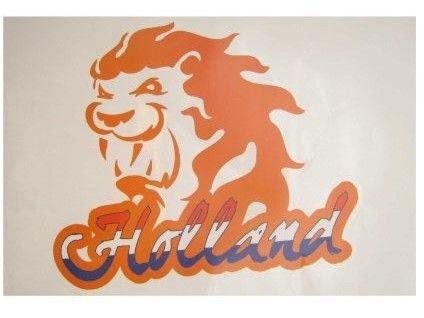 Window Sticker Dutch lion Orange