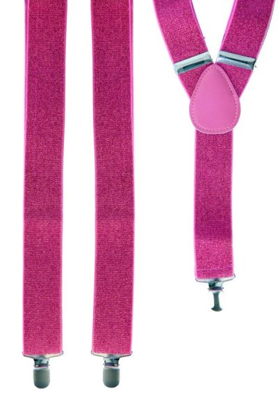 Suspenders pink with glitter