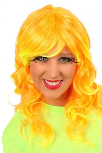 Ladies wig sunny orange
