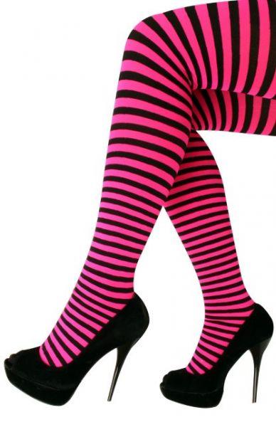 Panty stripe pink black