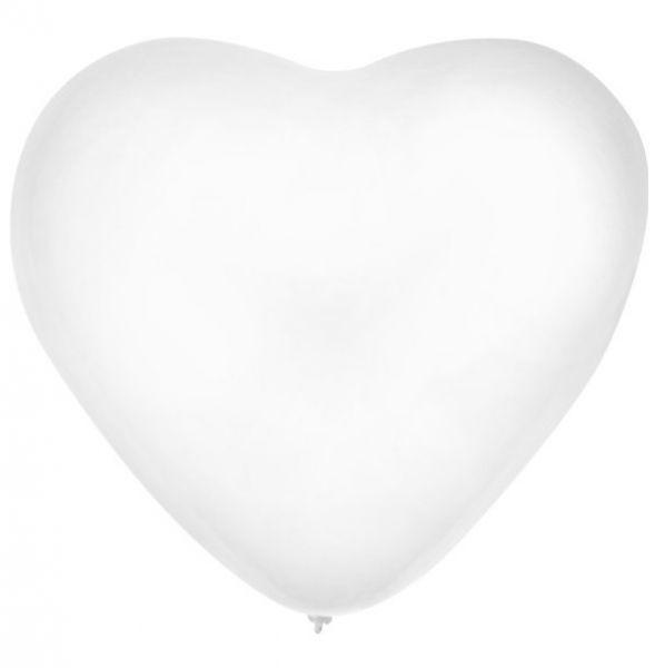 Heart balloon white 30cm
