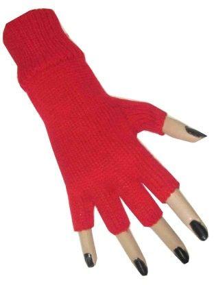 Red fingerless glove