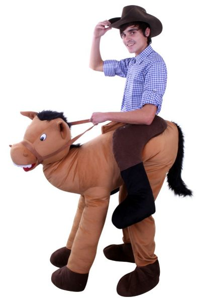 Riding on horse animal costume
