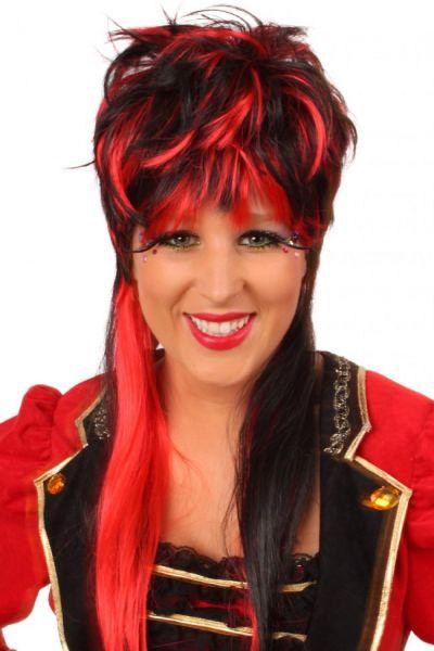 Wig Virginia red black long hair