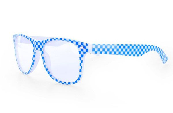 Oktoberfest glasses blue white checkered Bayern