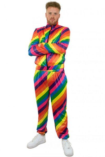 Tracksuit 80s disco rainbow