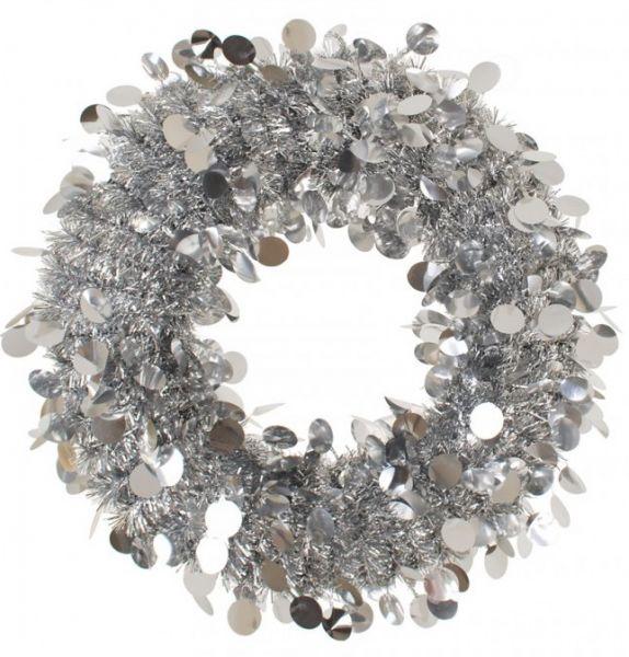 Door wreath 45 cm Silver