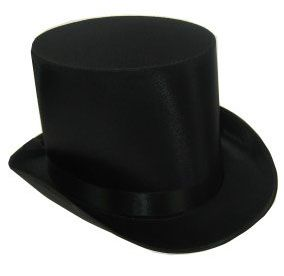 High top hat satin the luxury black