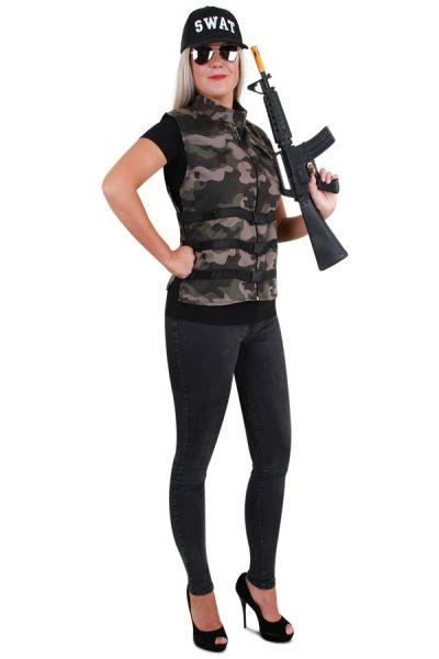 Tough camouflage vest ladies