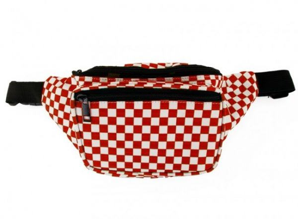 Belt bag red and white checkered