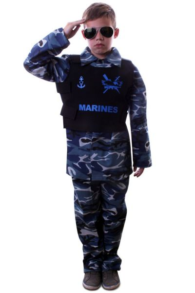 Tough Marine camouflage outfit child