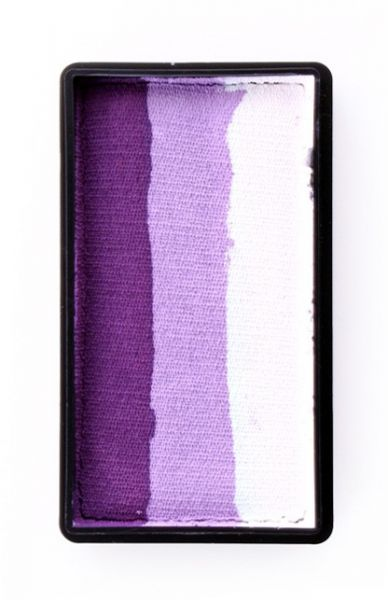Split cake Deep purple lilac white PartyXplosion