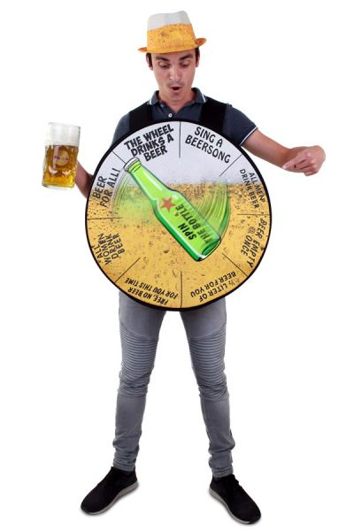 Bachelorette party beer wheel costume